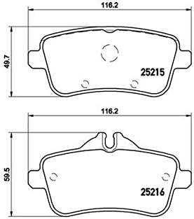 BREMBO P 50 099 4x Bremsbel/äge hinten