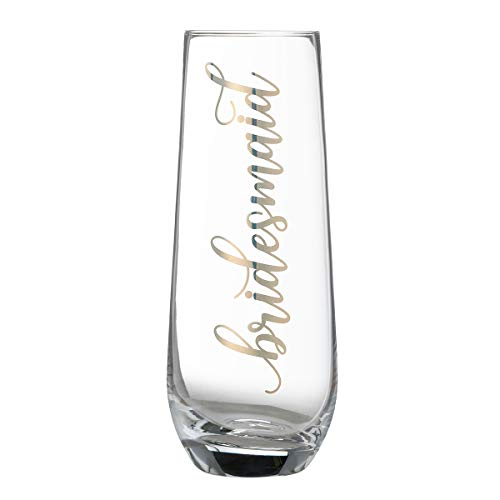 Lillian Rose G116 BM Gold Bridesmaid Stemless Champagne Glass, 5.75