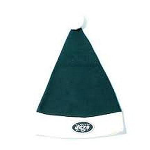 NFL Officially Licensed New York Jets Santa Beanie Hat Lid Cap - Santa Nfl New York Jets