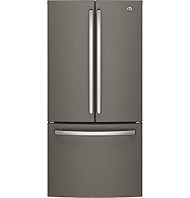 """GE GNE25JMKES 33"""" Energy Star Qualified French-Door Refrigerator with 24.8 Cu. Ft. Capacity, in Slate"""