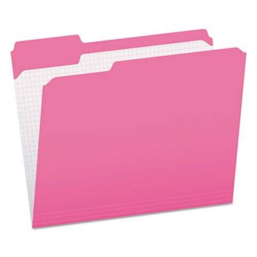 Pendaflexamp;reg; Two-Ply, Reinforced File Folders, 1/3 Cut, Top Tab, Letter, Pink, 100/Box