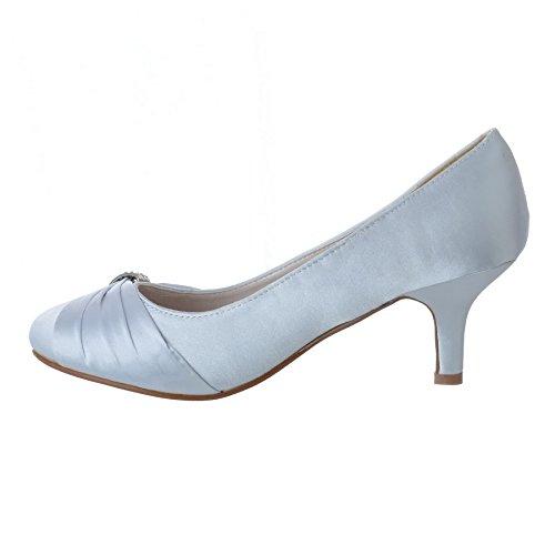Satin De Strass Sandales Mariage Taille Bal Classique Femmes Mariée De Pour Talon Chaussures Argent Dames Basse wqxtT0Za