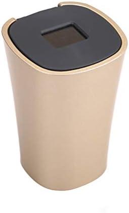 ステンレス鋼の車の灰皿はカバーが付いているふたの灰皿タンクが付いている多機能車の人格の普遍的な車の内部を作成します高級車の灰皿8.4X11 X 6.5cm YCHAOYUE (Color : Gold)
