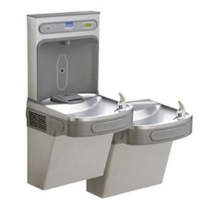EZH2O ADA Compliant 2 Station Drinking Fountain with Bottle Filling Station - Ada Compliant Wall Mount
