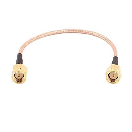 eDealMax SMA-J Macho a SMA-J Male RG316 Cable coaxial Flexible de conexión
