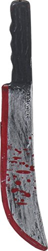 Psycho Killer Costume Accessory Bloody Toy Machete Knife Gray/Black]()