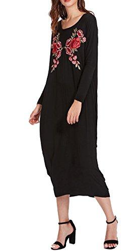 black strappy t shirt dress - 1