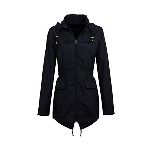 Antivento Primavera Nero Trench Coat Donna Autunno Inverno Tuta Cappuccio Lungo Fangcheng Impermeabile Con Casual 65UZ7wxwq