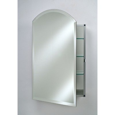 Afina SD2430RARC-BV-L Single Door Recessed Arch Top Beveled Left Hinge Medicine Cabinet, -