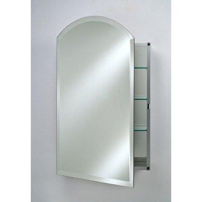 - Afina SD2430RARC-BV-L Single Door Recessed Arch Top Beveled Left Hinge Medicine Cabinet, 24