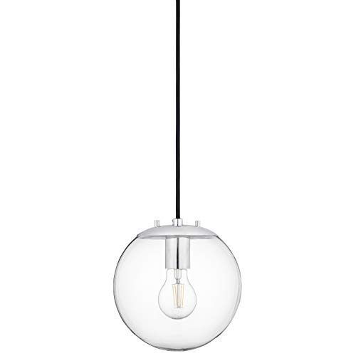 Sferra Globe Pendant Light | Chrome Pendant Lighting for Kitchen Island with LED Bulb LL-P201-PC