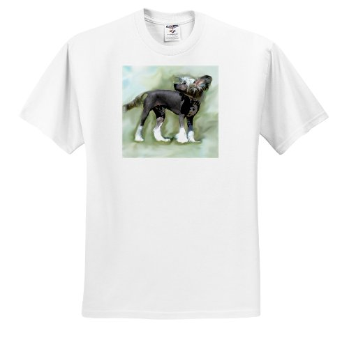 Hairless Chinese Crested - Dogs Chinese Crested Hairless - Chinese Crested - T-Shirts - Adult T-Shirt Large (ts_4254_3)