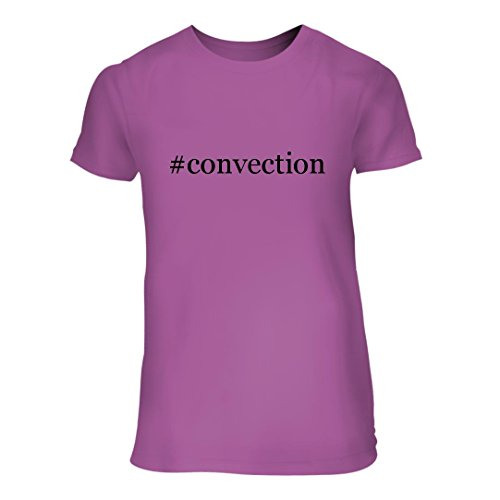 Convection   A Nice Hashtag Junior Cut Womens Short Sleeve T Shirt  Lavender  Large