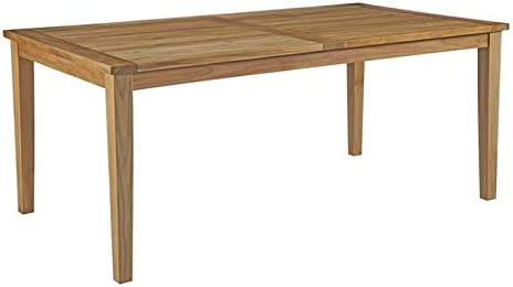 Modway EEI-2717-NAT Marina 72 Premium Grade A Teak Wood Outdoor Patio Dining Table, Natural