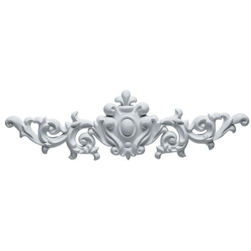 Ekena Millwork ONL16X04X01MA 16 3/8-Inch W X 4 3/4-Inch H X 3/4-Inch P Marcella Medium Leaf with Scrolls - Fireplace Hung Gel