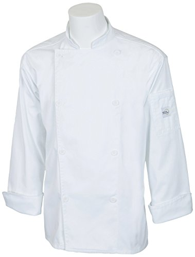 Mercer Culinary M61010WH8X Genesis Men's Chef Jacket with Traditional Buttons, 8X-Large, White by Mercer Culinary