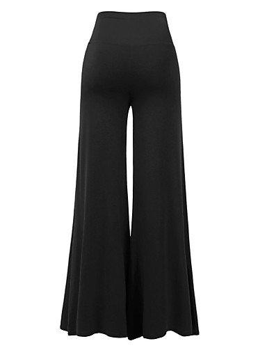 da attivi unita pantaloni larghi tinta Pantaloni larghi alta Vita donna Wine Split YFLTZ sportivi aXwxYSpq