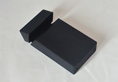 FLAVORAL 105X56X26MM Silicone 100'S Cigarette Case, Longer Smoking Box Sleevescigarette Silica Smoking Box Black