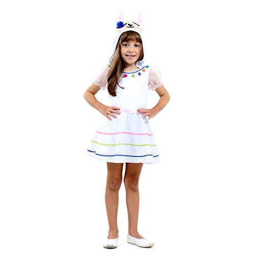 Fantasia Lhama Toddler Infantil 23265-m Sulamericana Fantasias Branco M 6 Anos