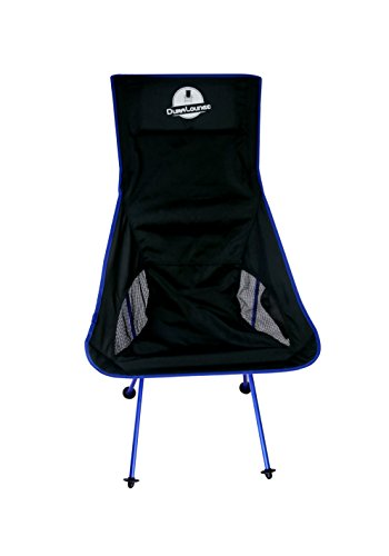 Outdoor, Lightweight, Portable, Folding Chair by Duralounge: Beach lounge chair with Two Mesh Pouches and A Convenient And Easy-To-Carry Storage Bag/ Premium Camping / Backpacking Chair (Navy Blue) (Table Dining Set Swing)