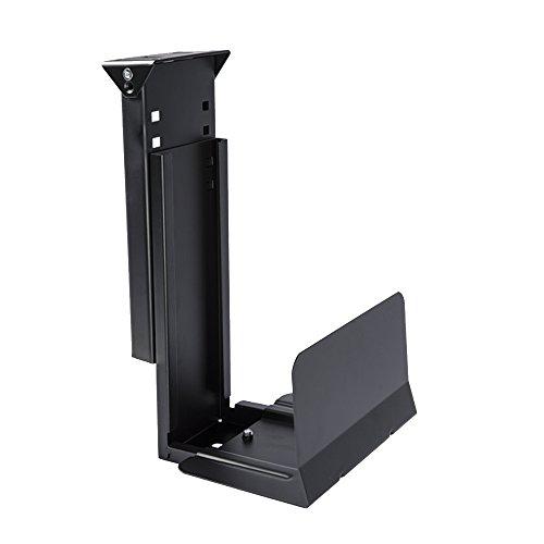 GT Innovation New Under Desk Mount for Desktop Tower PC Computer Tower CPU Holder Computer Case Holder Tower Mount (Black)