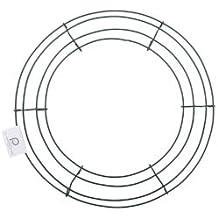 "Bulk Buy: Panacea Wire Wreath Frame 12"" Green 36003 (10-Pack)"