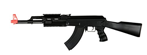 UKARMS AK-47 AEG Semi/Full Auto Electric Airsoft Rifle Gun High Capacity Magazine FPS 150