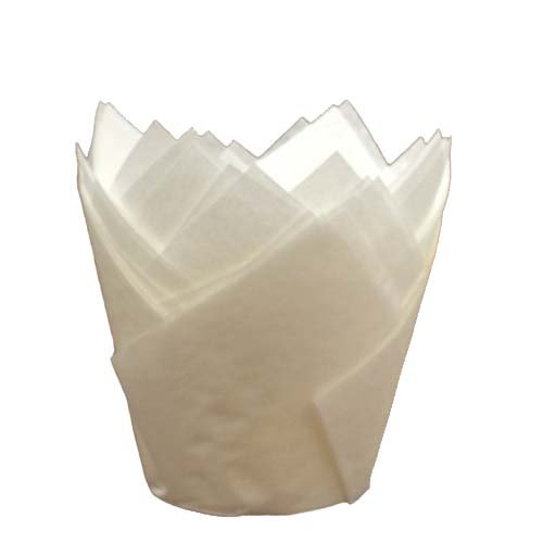 Disposable White Tulip Baking Cups (2000, 2'' to 3-1/2'' High)