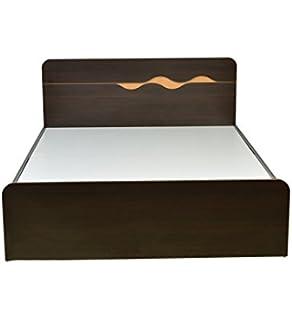 hometown swril queen bed matt finish brown