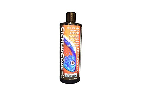Brightwell Aquatics Cichlidcode, Trace & Minor Elements for African Cichlids & Fishes of Lakes Victoria, Malawi, Tanganyika, 500ml