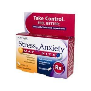 Comprimés Natrol stress et l'anxiété, jour et nuit, 20-Count
