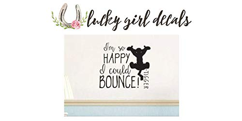 Tigger So Happy I Could Bounce Vinyl Wall Decal Sticker ()