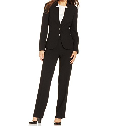 Notched Collar Pant Suit - 7
