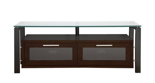 Plateau DECOR 50 EB Wood and Glass TV Stand, 50-Inch, Espresso Finish -