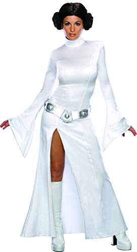 Rubie's Women's Star Wars Princess Leia Costume and Wig, White, Medium -