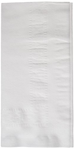 Hoffmaster 120051 Linen-Like Greek Key Embossed Dinner Napkin, 1/8 Fold, 17