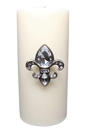Pewter Pillar Candle - 8