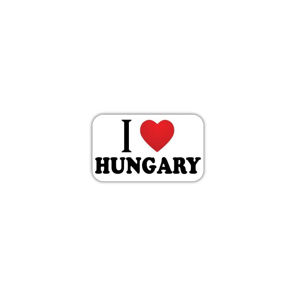 I Love HUNGARY Car Bumper Sticker Decal 5 X 3