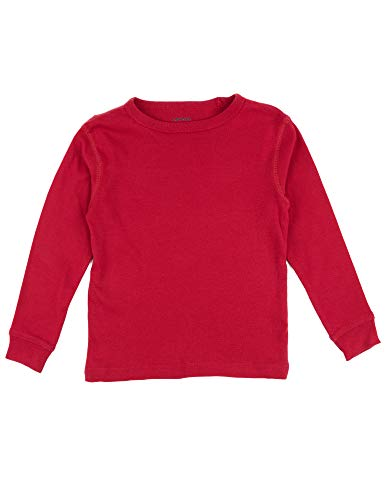 Leveret Long Sleeve Solid T-Shirt 100% Cotton (2 Years, Red)