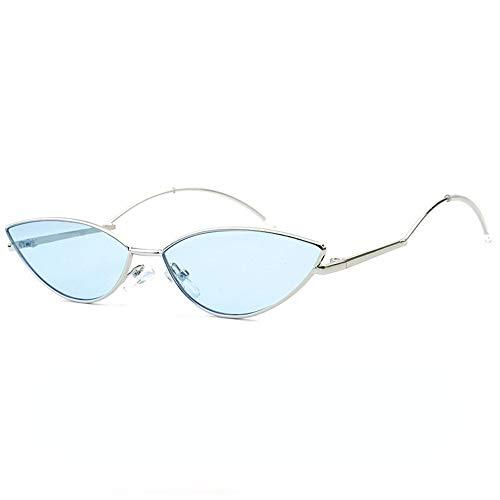pour polygone style solei couleur lunettes punk lunettes qualité soleil soleil Petit lunettes Joker soleil de métal soleil de de femme océan dégradé de taille les lunettes de lunettes cadre Bleu unisexe en vFAqwSa