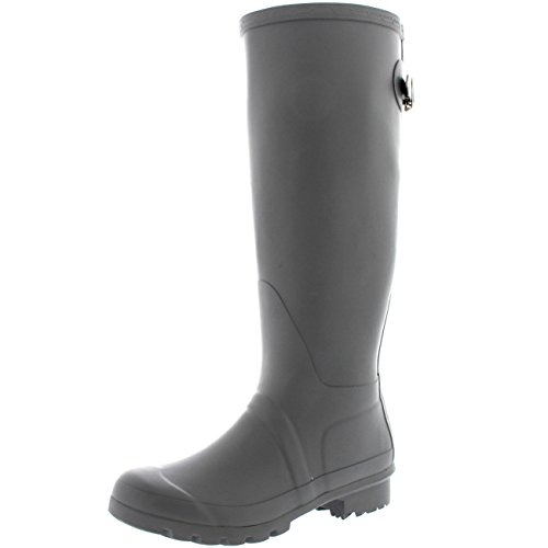 Womens Adjustable Back Tall Winter Rain Wellies Waterproof W