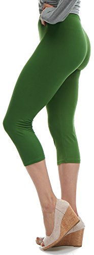 LMB Lush Moda Extra Soft Capri Leggings - Variety of Colors - ()