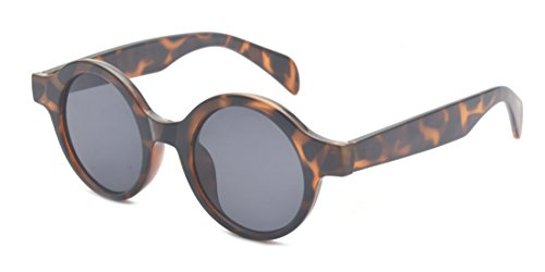 Kelens Vintage Inspired Round Circle Sunglasses For Women and Men - Glasses Round Rimmed Thick