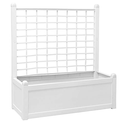 Set of 2 BrylaneHome Trellis Fence White