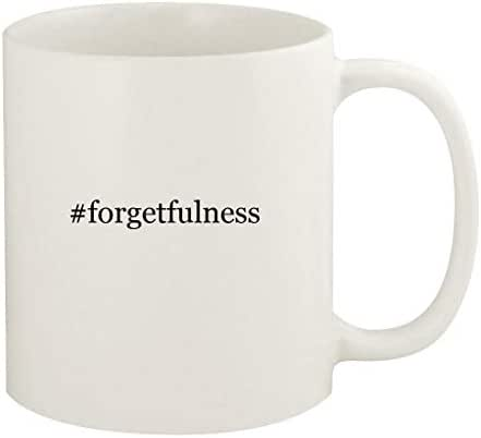 #forgetfulness - 11oz Hashtag Ceramic White Coffee Mug Cup, White