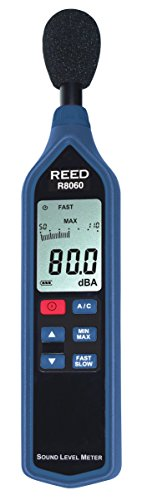 REED Instruments R8060 Sound Level Meter with Bargraph, Type 2, 30 to 130 dB