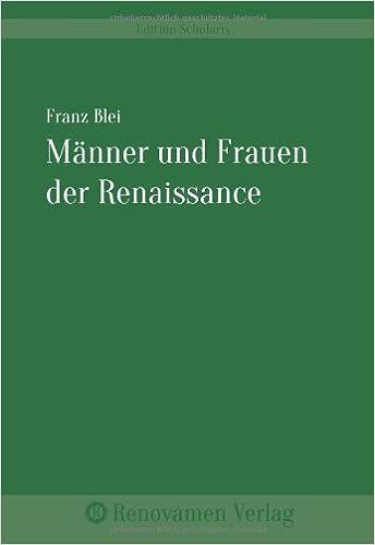 Book Männer und Frauen der Renaissance