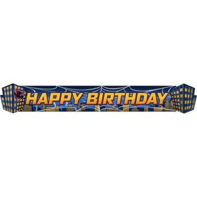 Hallmark Spider Hero Dream Party Birthday Banner]()