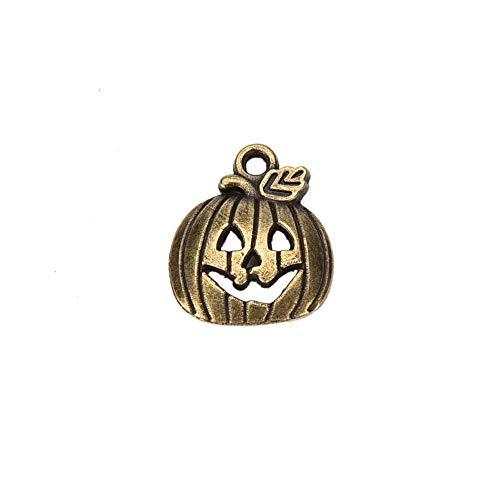 KathShop 10pcs Helloween Pumpkin Charms Jack Lantern 1815mm