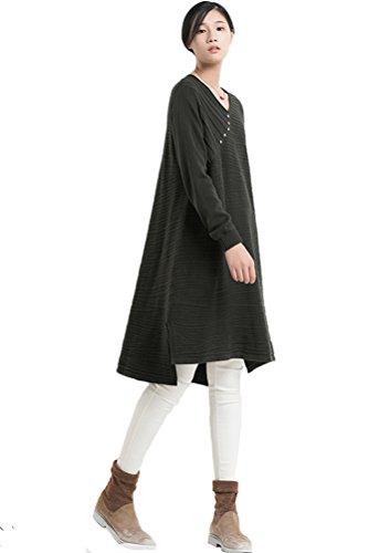Voguees - Vestido - Sudadera - para mujer Verde